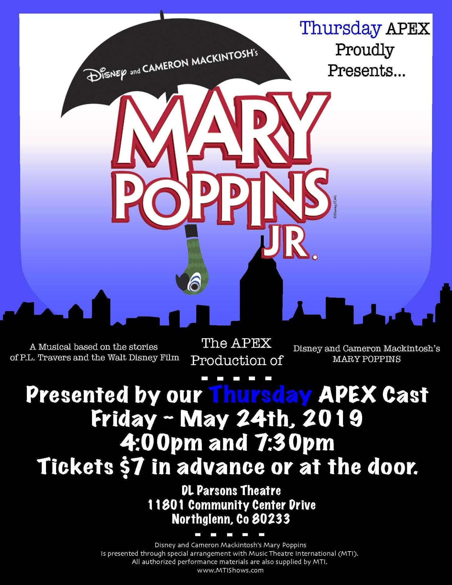 Mary Poppins musical poster