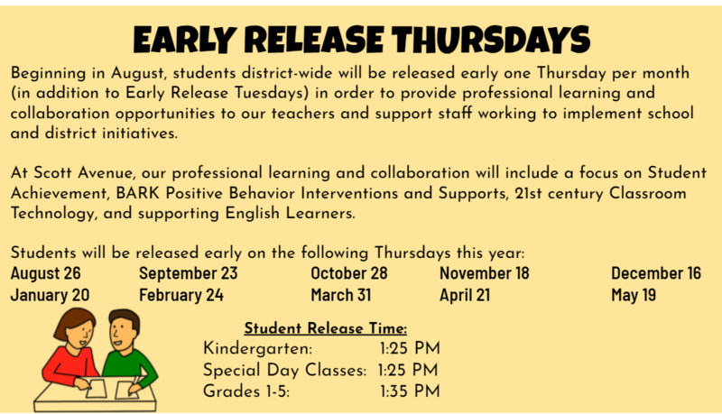 Image of Early Release Thursdays