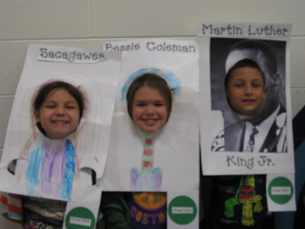 Wax Museum-Sacajawea, Bessie Coleman, and Martin Luther King, Jr.