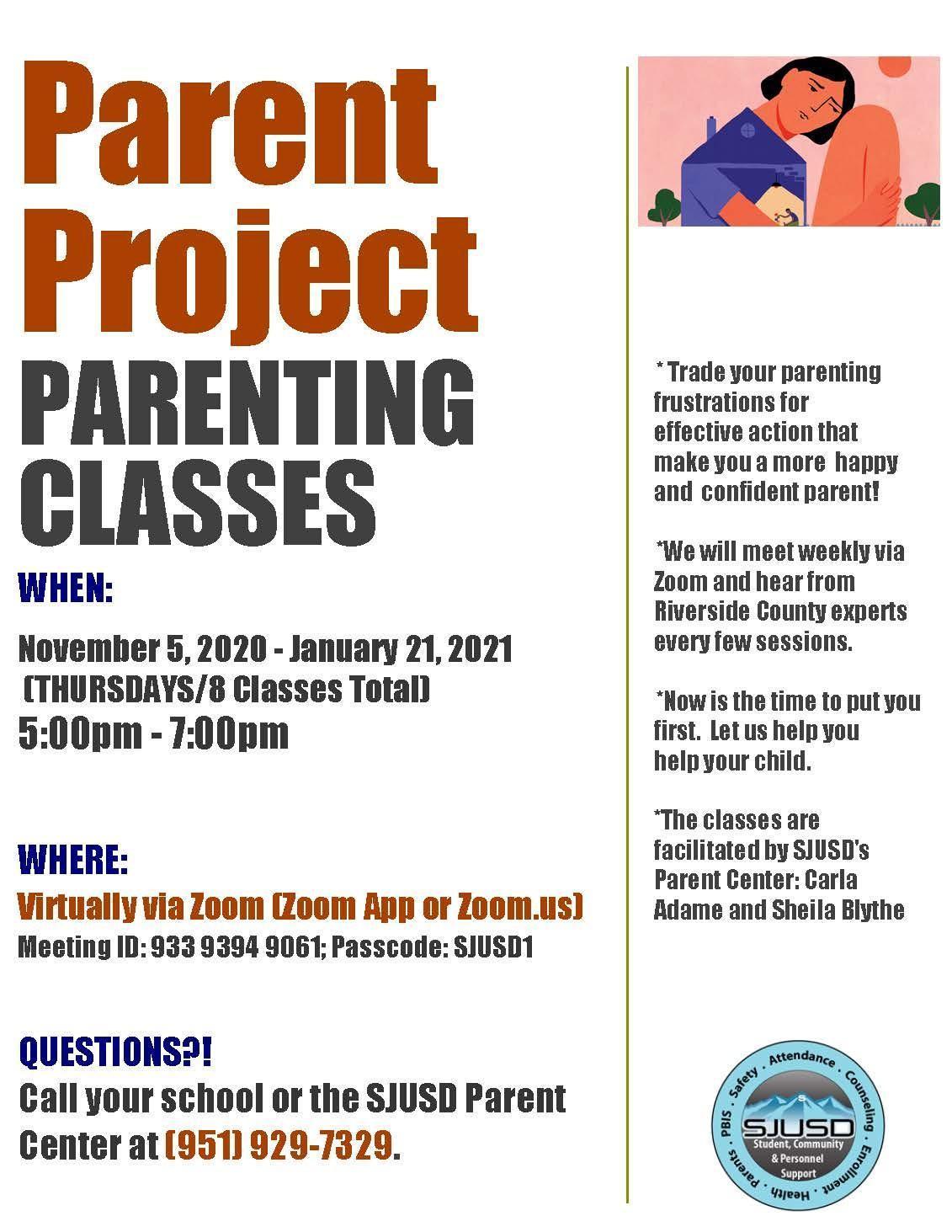 Parent Project Parenting Classes