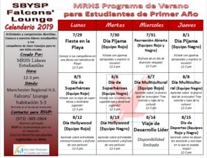 Programa de verano de transición para estudiantes de primer año de transición