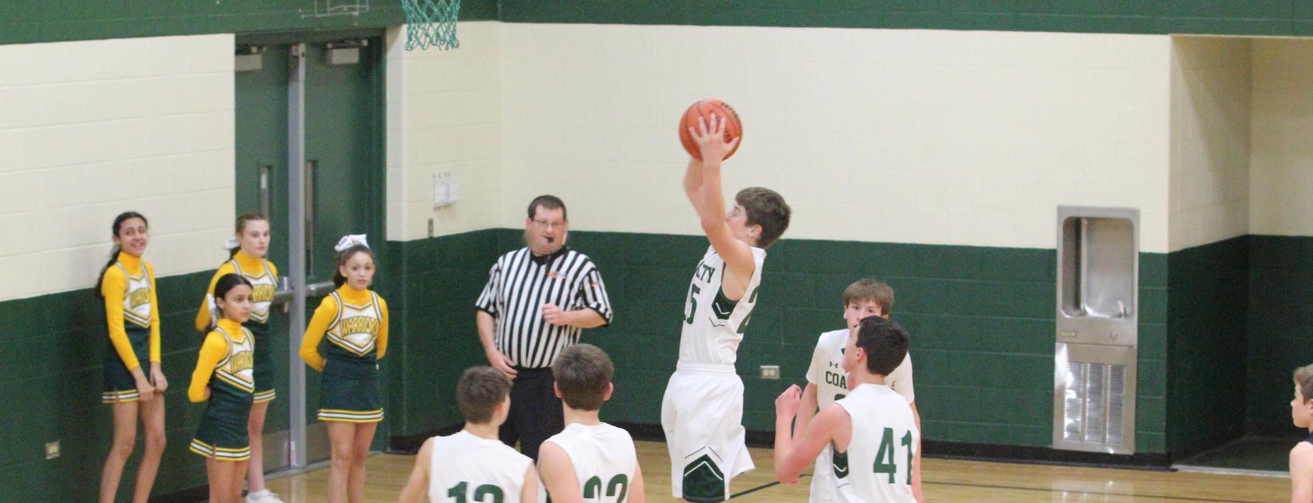 Boys basketball game