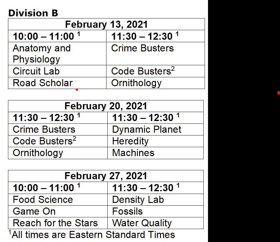 SO Schedule