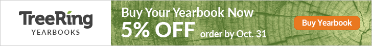 Order yearbook by Oct. 31 for a 5% discount.
