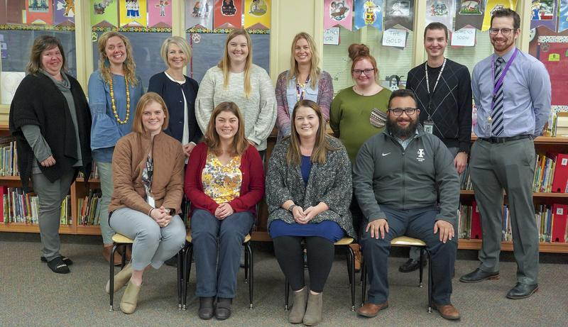 Pictured from left to right, back row: Mariangela Summers, Melissa Purswell, Liz Marvin, Ashley Metcalf, Nicole Cimmiyotti, Neveah Cubbage Thorp (HHS Art Club President), Dan Allen, and Sean McClanahan.  Front row: Anne Lusted, Karly Carlson, Megan James (representing Shareana Sparks and Rocky Heights) and Cristian Mata.