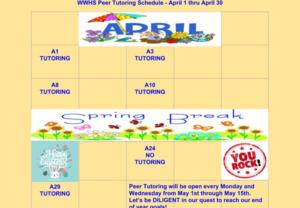 April peer tutoring