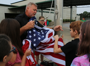 Buchanan Elementary students learn about the U.S. flag