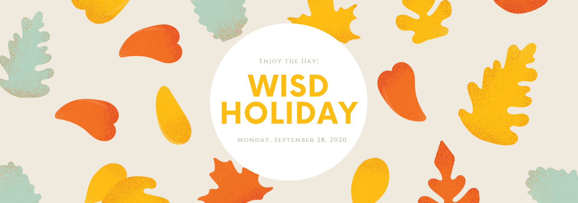 graphic with fall leaves describes holiday on September 28