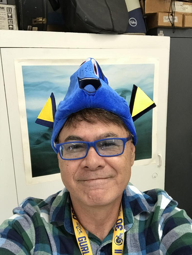 Mr. Shepherd with Dory hat on