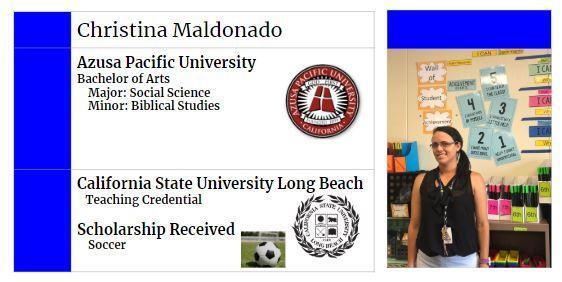 Christina's College Info