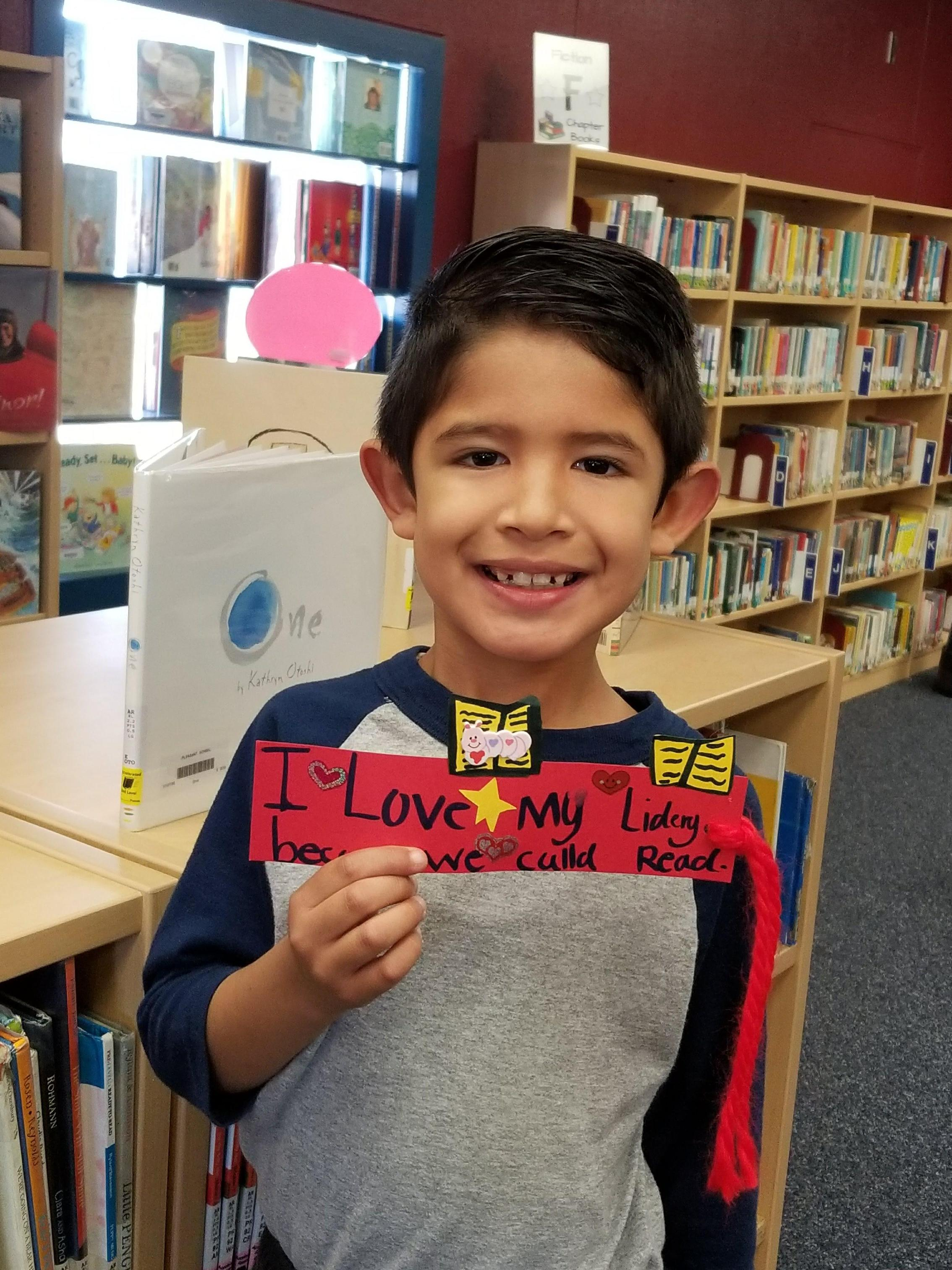'I love my library' bookmark challenge.
