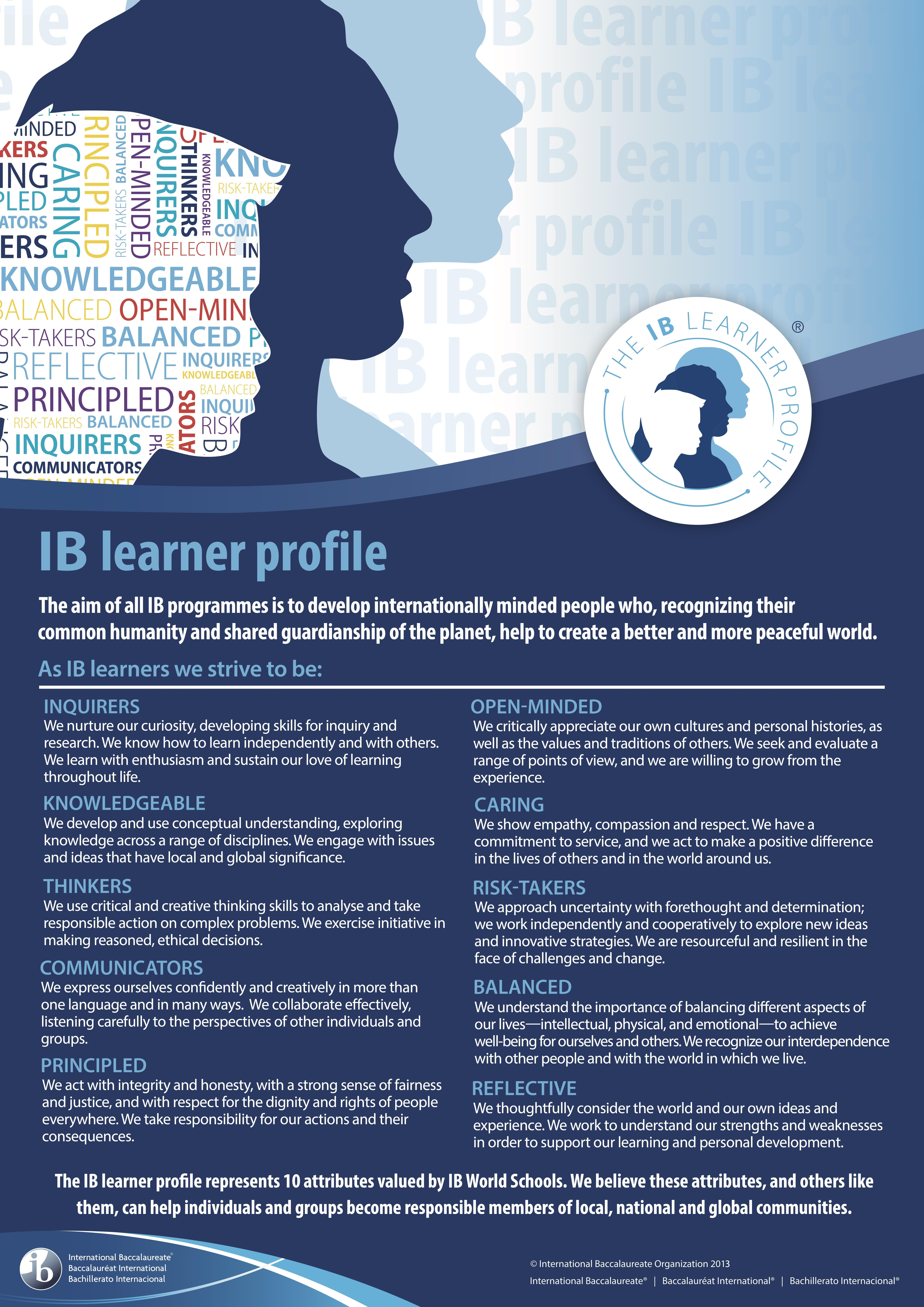 IB Learner Profile for all students