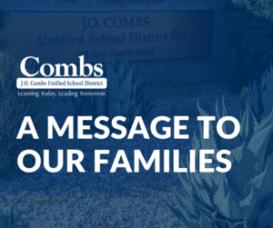 Message to Our Families
