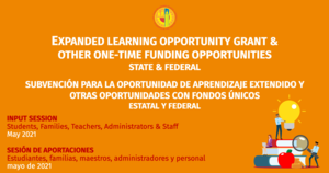 Expanded Learning Opportunity Grant & Other One-time Funding Opportunities Featured Photo