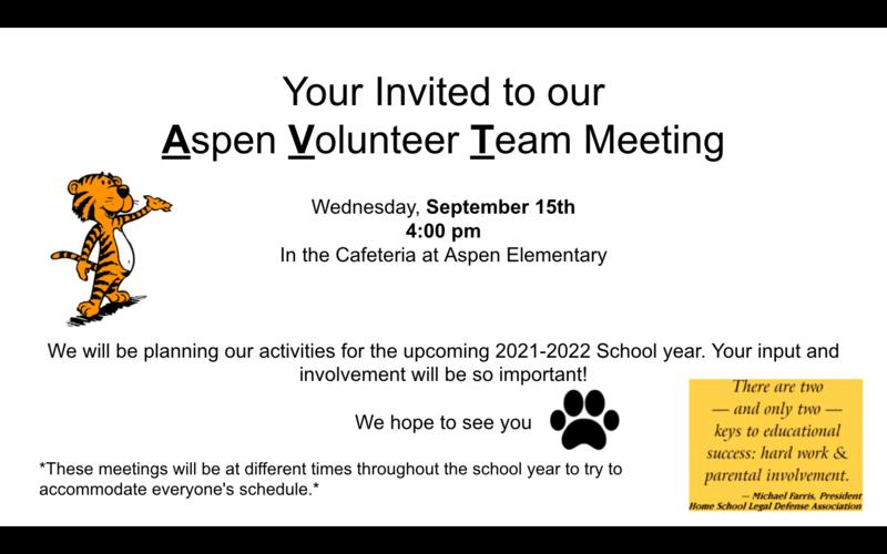 Aspen Volunteer Team Meeting
