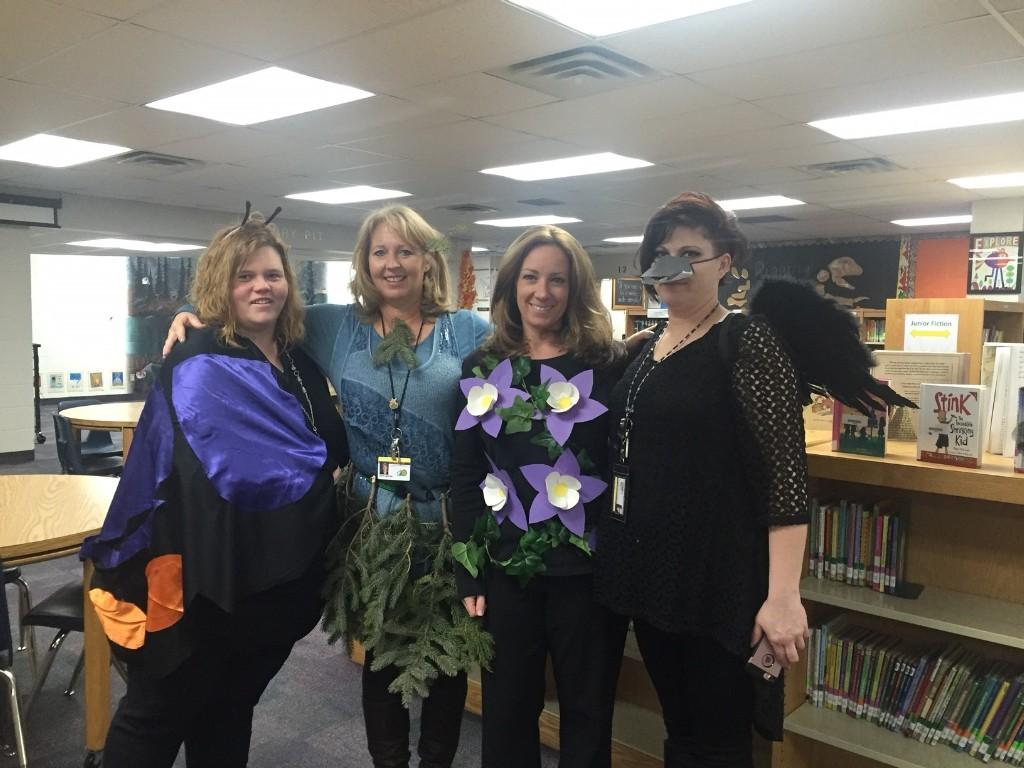 3rd-4th grade teachers dress up.