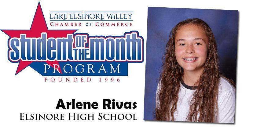 Arlene Rivas, Elsinore HS, is one of our Student of the Month Program honorees for December. Congratulations!