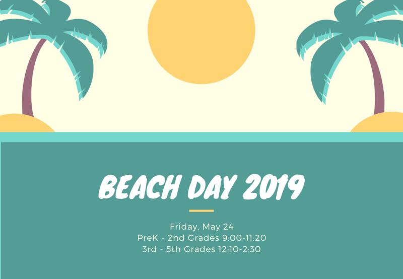 Palm tree and sun clip art. Beach day schedule.