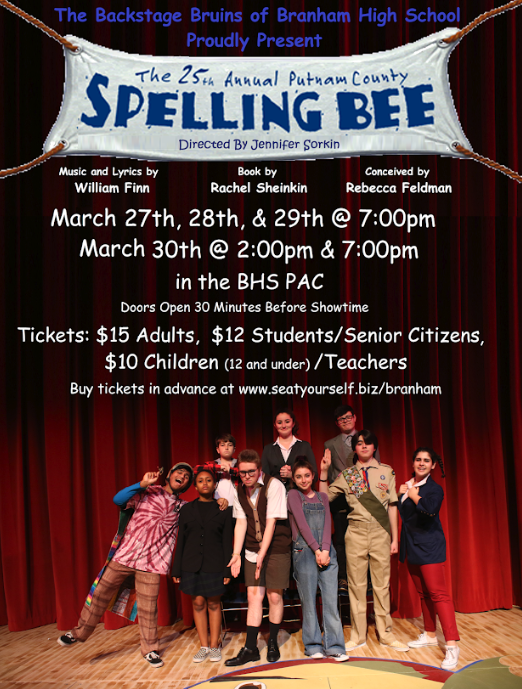 branham high school's theatre production post for the 25th annual putnam county spelling bee