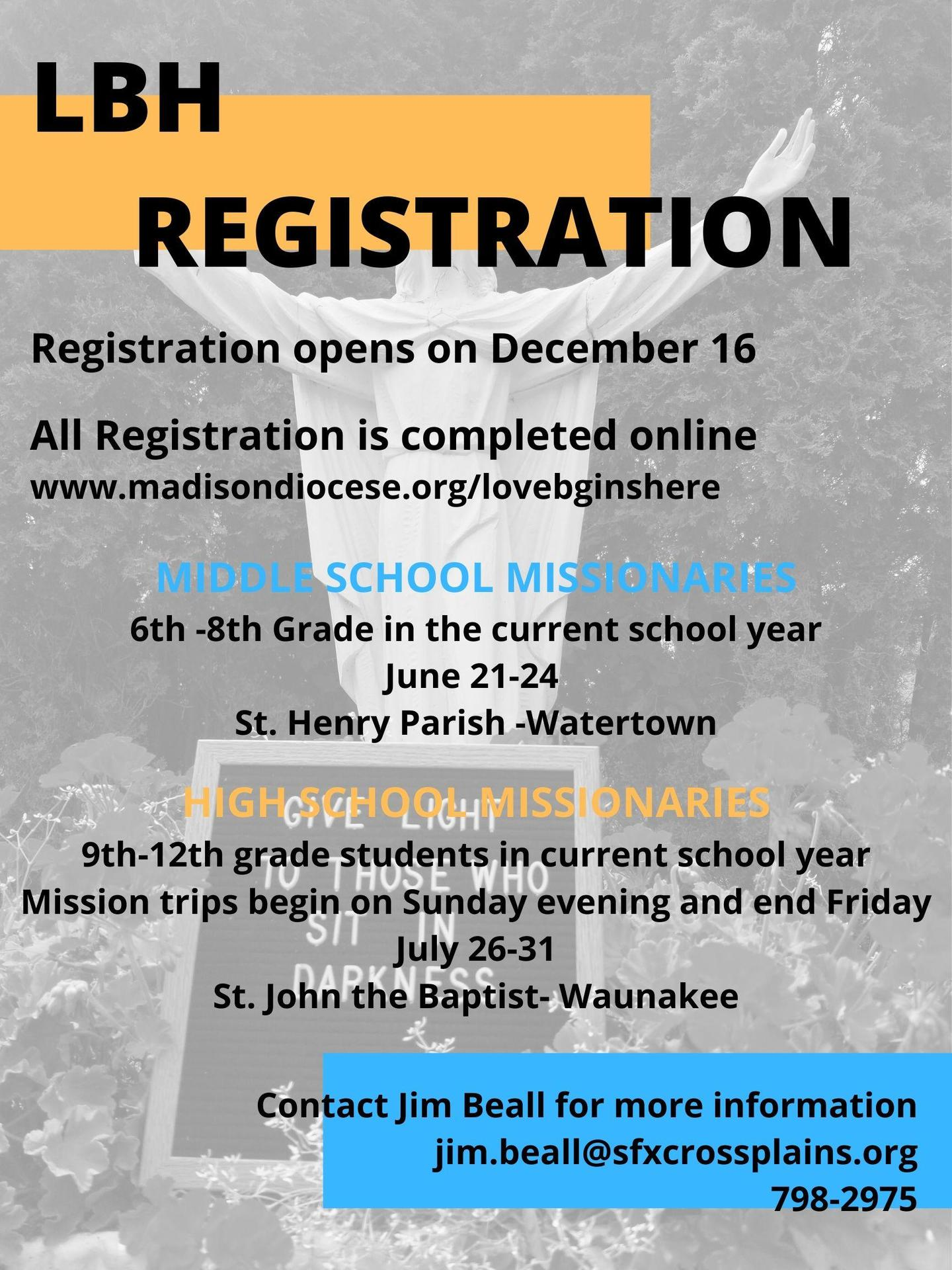 LBH Registration Info