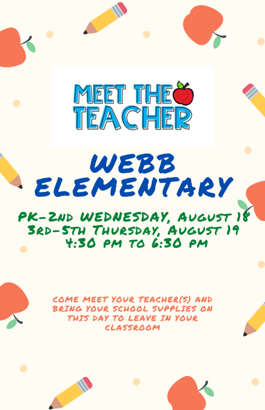 Meet the Teacher(s) Night at Webb - August 18th & 19th Featured Photo