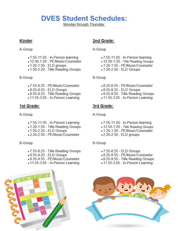DVES Student Schedules at a Glance Featured Photo