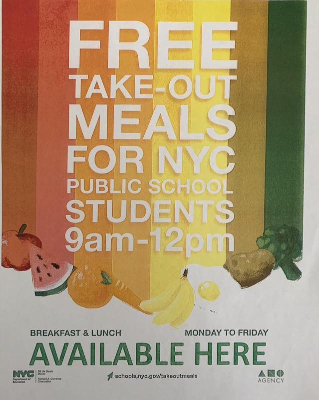 Free Breakfast and Lunch Flyer in English