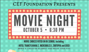 clip of movie night poster