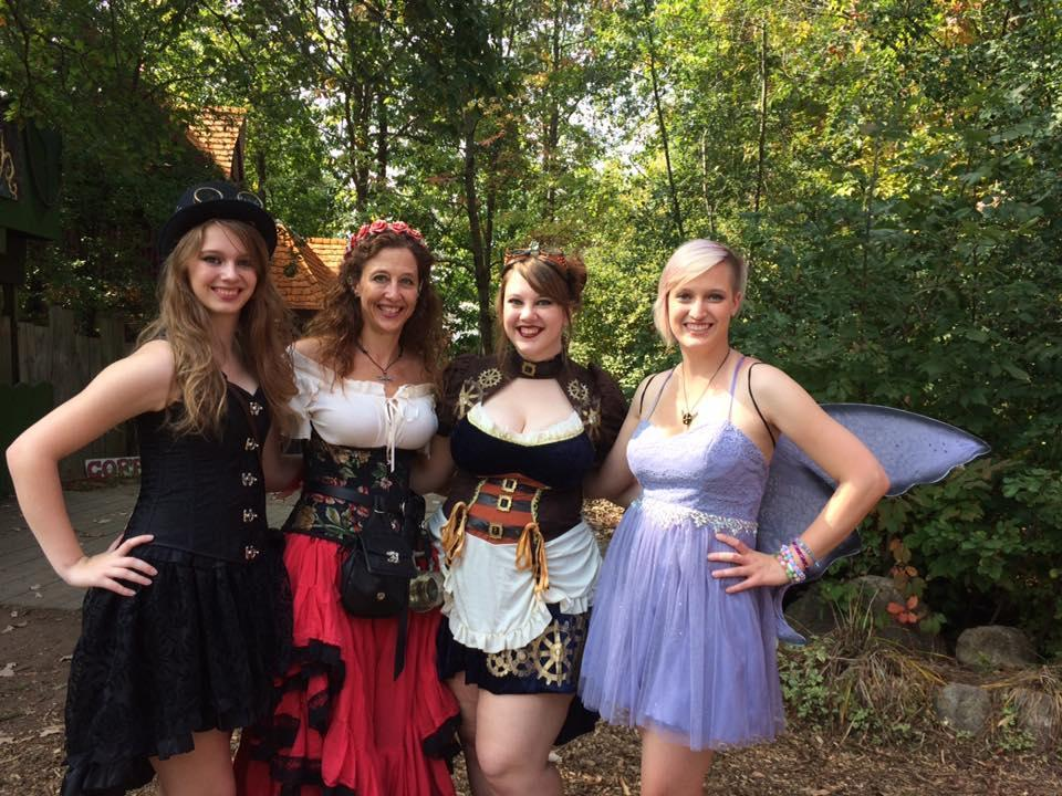 Renaissance festival with the girls