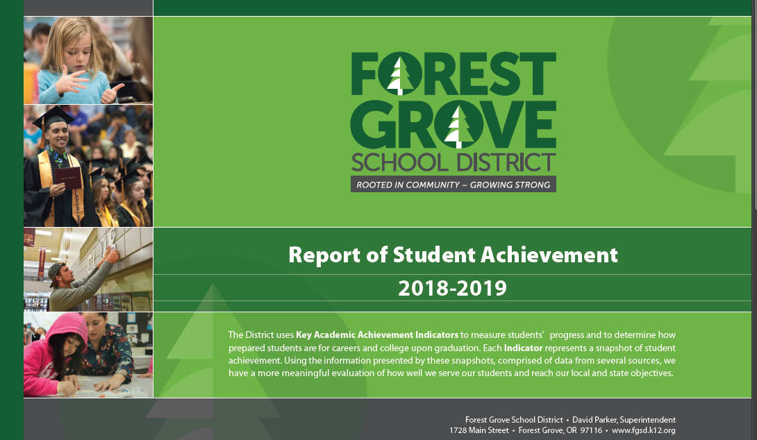 Report of Student Achievement 2018-2019