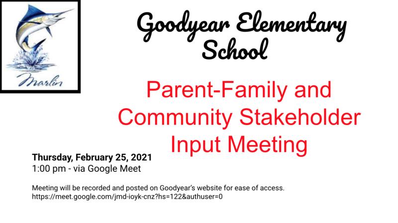 Invitation to Input Meeting