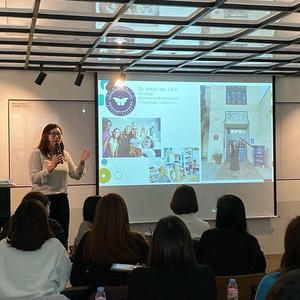 Dr. Alice Lee presenting at a workshop in Seoul, Korea.