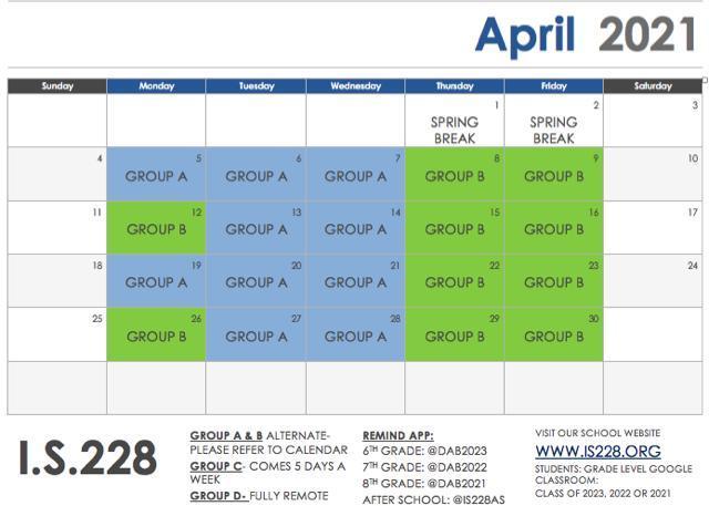 April Blended Calendar