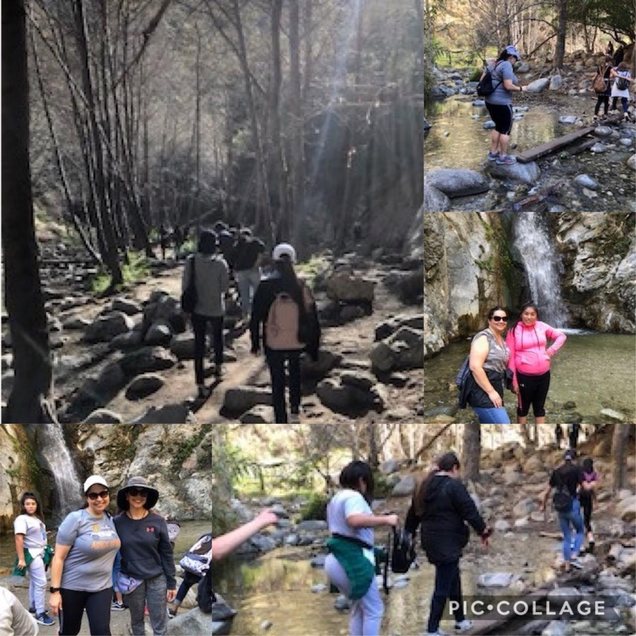 Students on hike