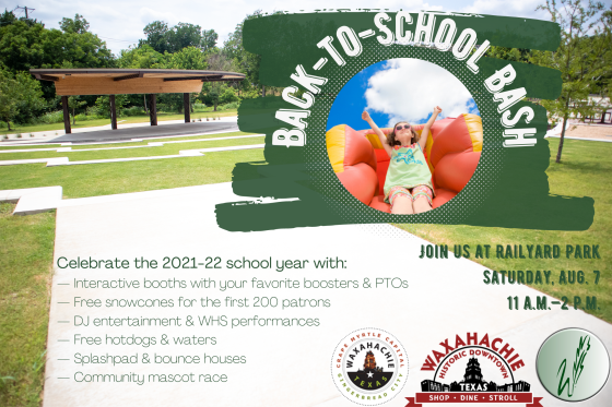graphic describes the back to school bash ad explained in the next cell