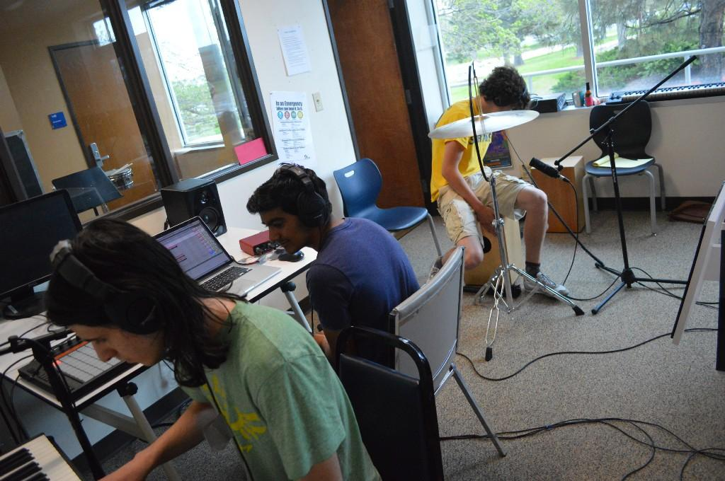 "Students record an original song ""One Voice."""
