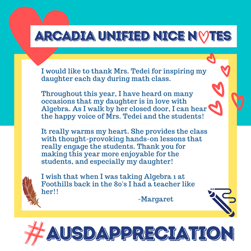Tedei from Margaret Nice Note
