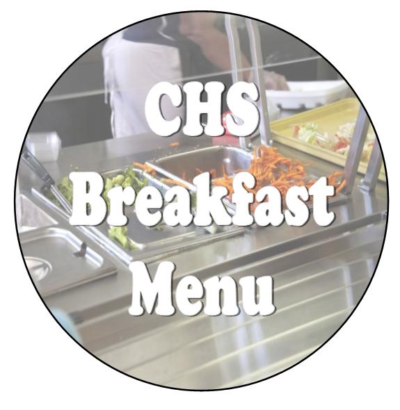 CHS Breakfast Menu