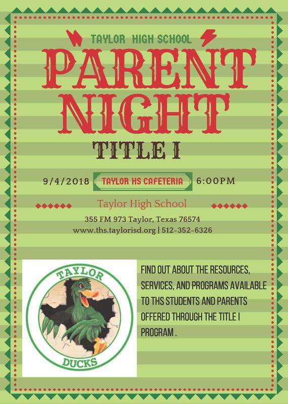 Title I Parent Night