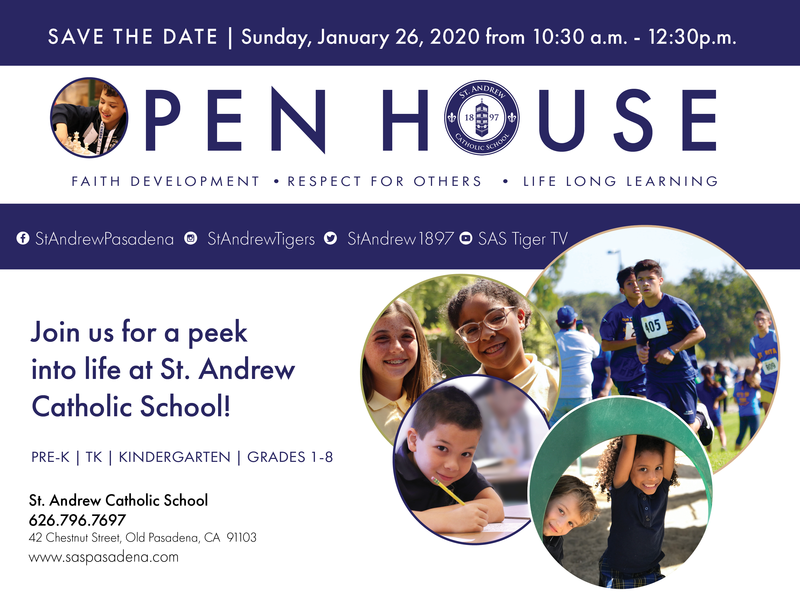 Save the Date: St. Andrew Catholic School Annual Open House Featured Photo