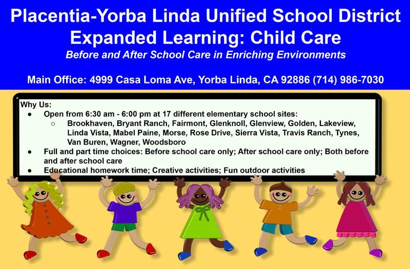 PYLUSD Expanded Learning: Child Care - Registration Begins March 2021