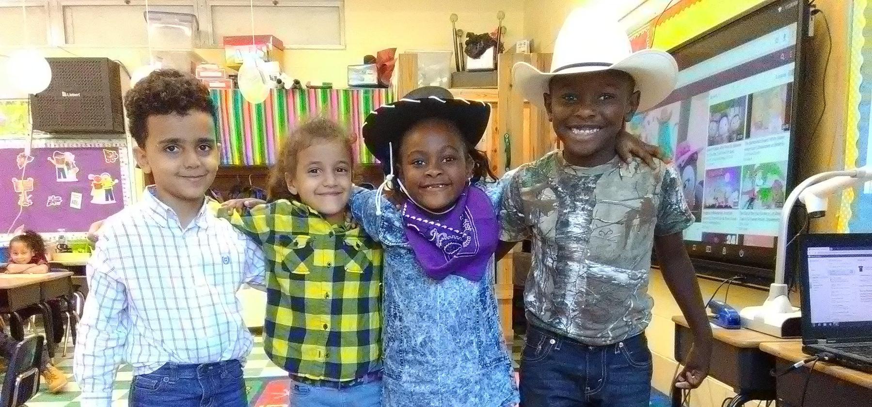 kids wearing western
