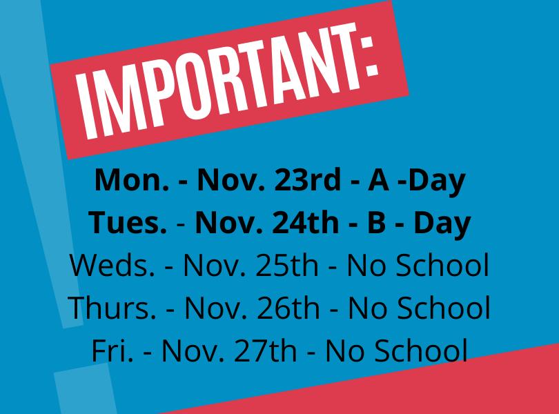 Nov. 23rd - 24th Announcement
