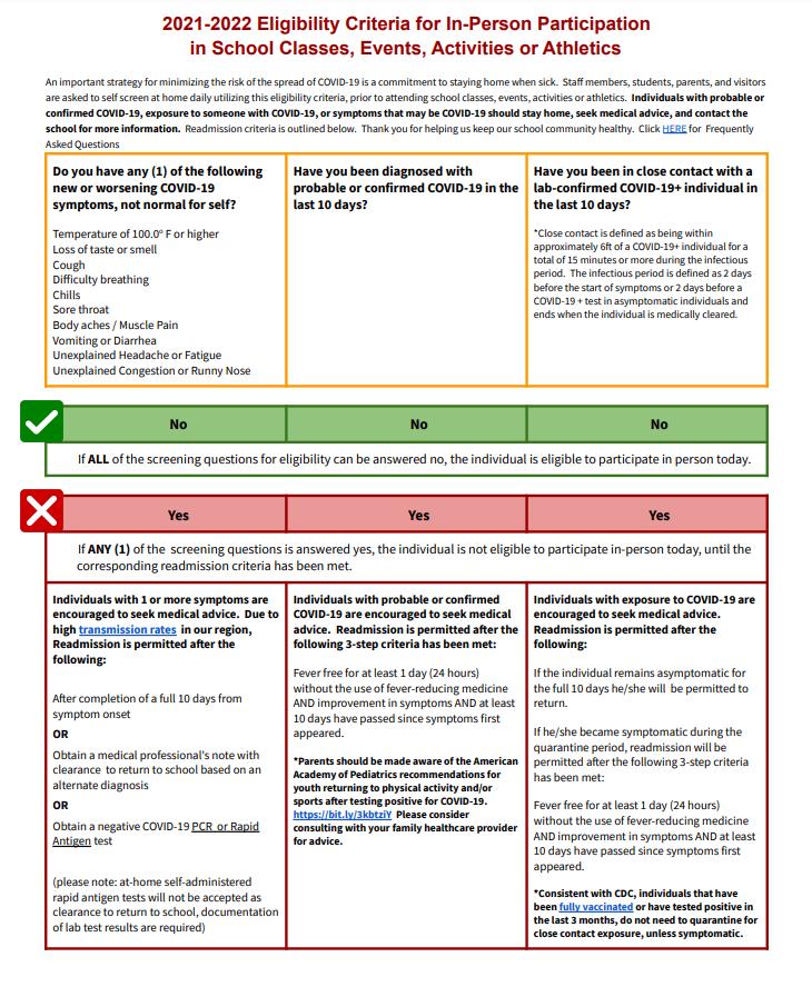 Eligibility Criteria Updated 8-18-21