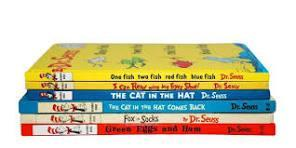 stack of books by dr suess