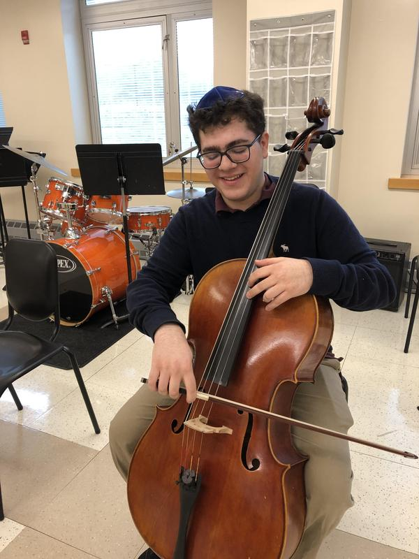 Jeremy Bernstein (and his cello) were selected for the 2020 Honor Orchestra of America Thumbnail Image