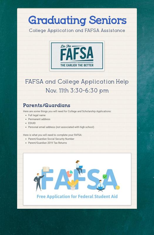 FAFSA and College Application Help