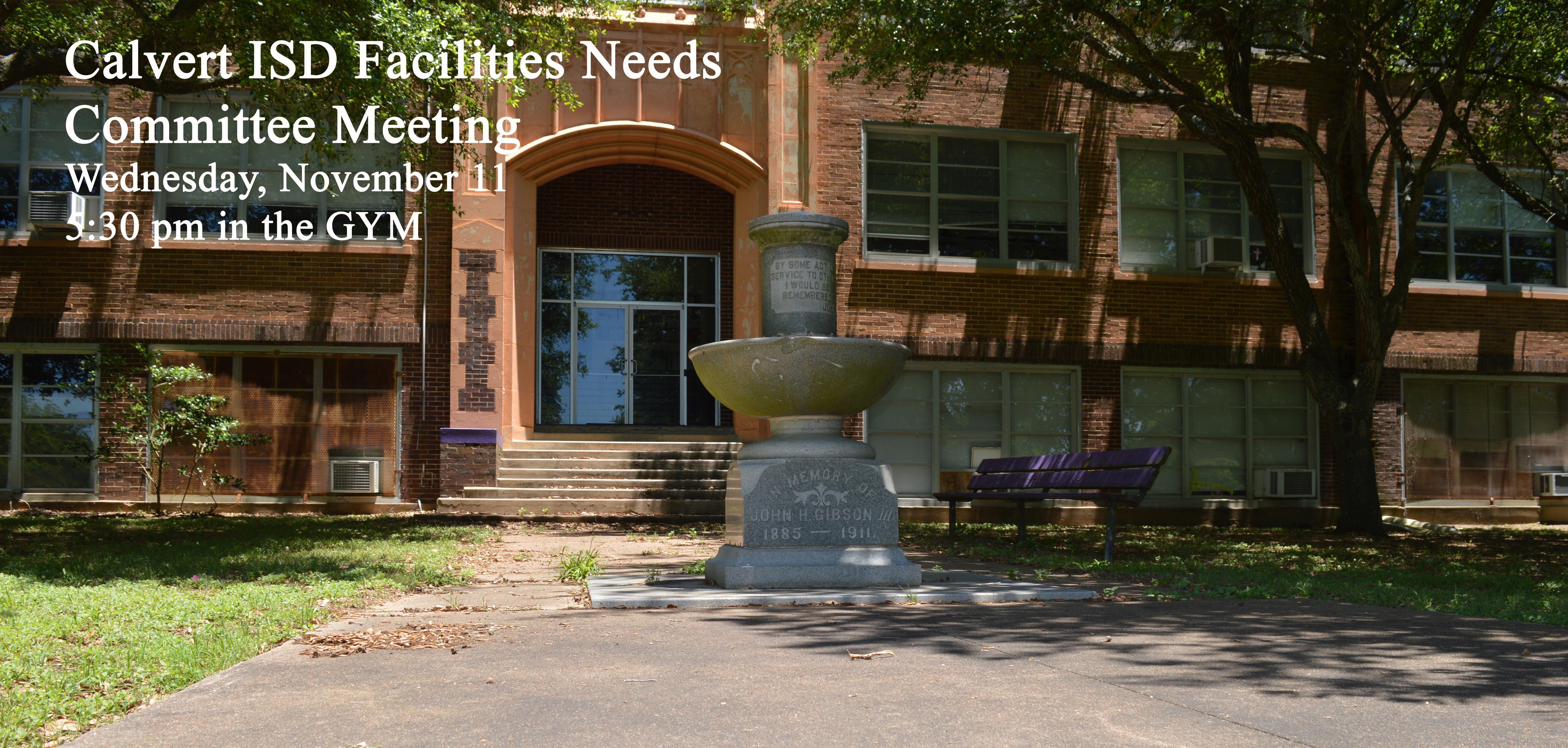 Calvert ISD Facilities Needs Committee Meeting Image