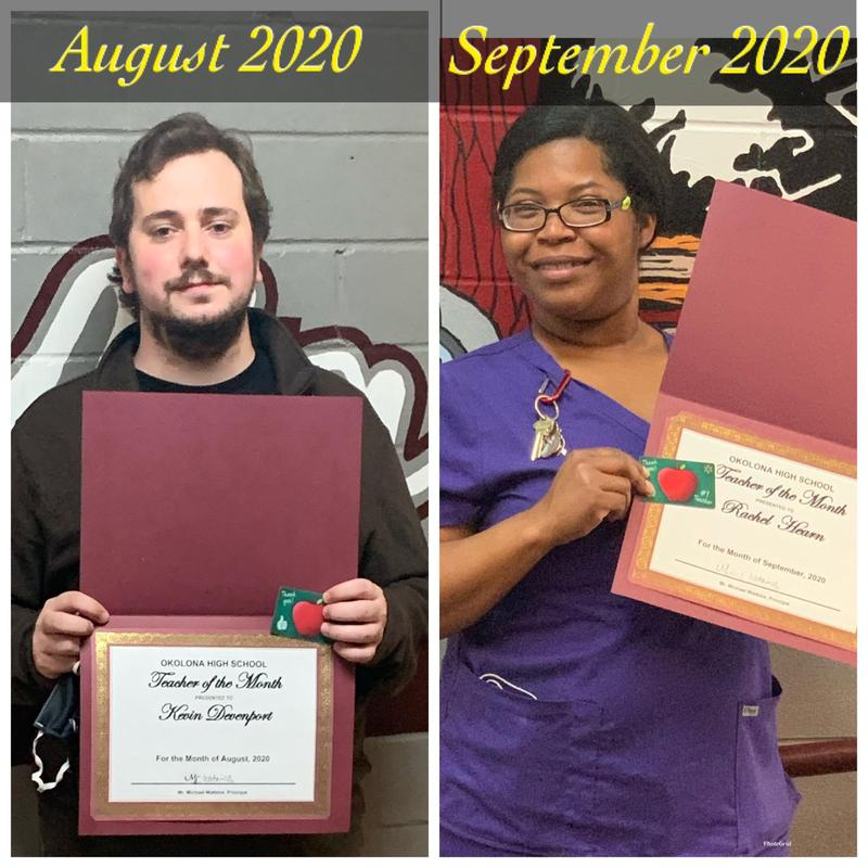 OHS Teachers of the Month Featured Photo