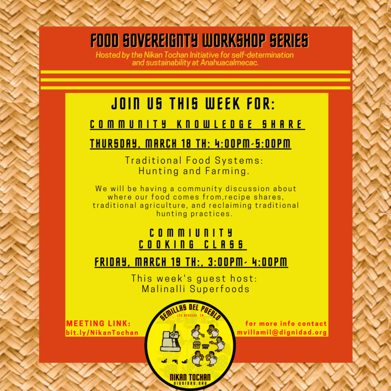 This Week's Food Sovereignty Workshop Series Featured Photo